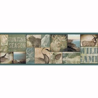 Trumball Wild Game Collage Border - Chesapeake Wallcovering