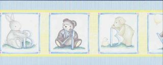 Stuffed Animal Baby Nursery Wallpaper Border - Sunworthy