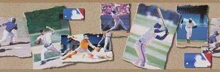 Baseball Players Collage Wallpaper Border