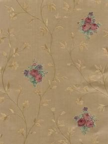 Roses Vines Silk and Satin Wallpaper
