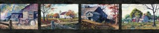 Norm Black Quiet Country Scenes Wallpaper Border Chesapeake PUR44592B