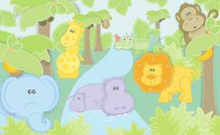 Small Safari Pastel Wallpaper Mural
