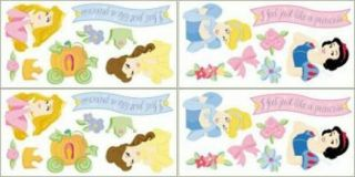 Disney Princess Self Stick Removable Decorative Accents - Imperial