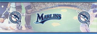 Florida Marlins Baseball Logo Wallpaper Border