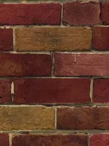 Faux Vintage Red & Tan Brick Wallpaper - Norwall Wallcoverings