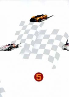 White Speed Racer Wall Paper