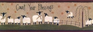 Count Your Blessings Wall Paper Border