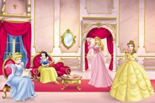 Ballroom Disney Princess Wallpaper Mural