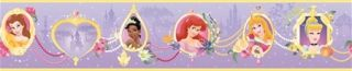 Disneys Princess Frames Purple Wallpaper Border