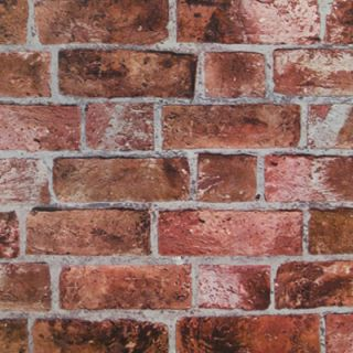 Textured Red Brick Wallpaper - York Wallcoverings