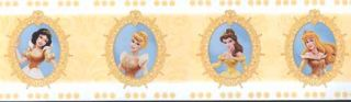 Disneys Princess Yellow Wallpaper Border PDCLBDR3
