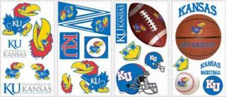 University of Kansas Peel and Stick Appliques