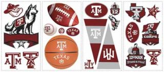 Texas A and  M Peel and Stick Appliques