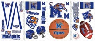 University of Memphis Tigers Peel and Stick Appliques