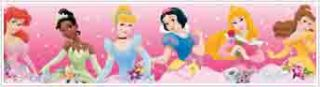 Pink Disney Princess Dream from the Heart Peel and Stick Border