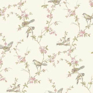Floral Branches With Birds - York Wallcoverings