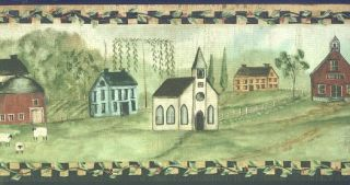 Black Country Church Wallpaper Border