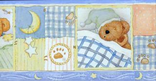 Bedtime Bear Wallpaper Border