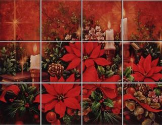 Do It Yourself Christmas Poinsettia IdeaStix Mural IS0160
