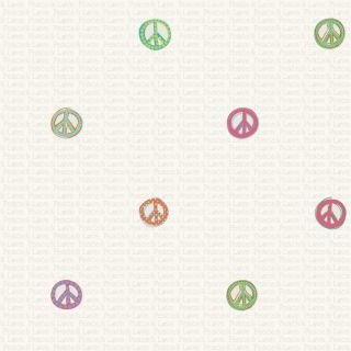 Peace and Love Wallpaper - Friends Forever - York Wallcoverings