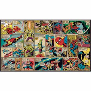 Walt Disney Kids Ii Marvel Classic Comic Mural