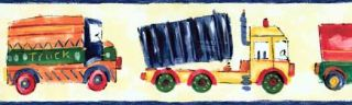 Childrens Truck Drawing Wall Paper Border