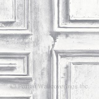 LL36209 Wood Panel Wallpaper White, Grey Illusions Norwall Wallcovering