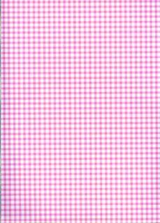 Norwall Pink and White Gingham Wallpaper