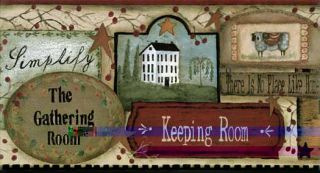 Country Charm Wallpaper Border